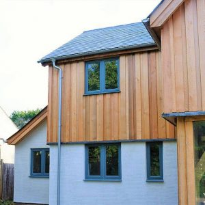 Western Red Cedar Cladding in Board on Board cladding